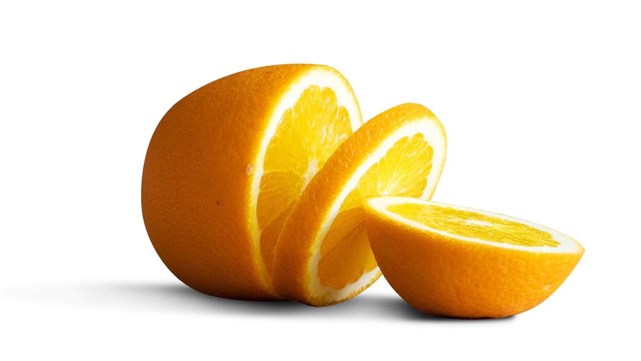 Plasterki suszonej pomarańczy